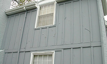 Wood grain panel siding in overland park ks paint pro inc for Wood grain siding panels